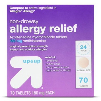 Fexofenadine Hydrochloride Allergy Relief Tablets - Up&Up™ (Compare to active ingredient in Allegra Allergy)