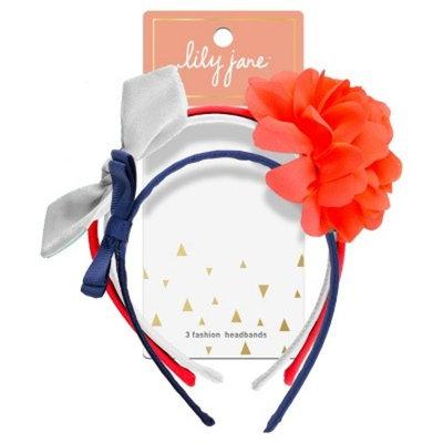 Lily Jane Flower Bows Headband - 3ct
