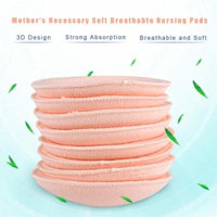 Aramox 8Pcs Mother's Necessary Washable Breastfeeding Pads Soft Breathable Nursing Pads, Breastfeeding Pad