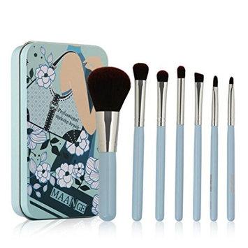 AutumnFall 7PCS/Set Make Up Foundation Eyebrow Eyeliner Blush Cosmetic Concealer Powder Brushes With Case