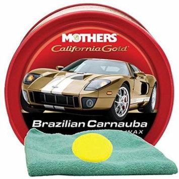 Mothers California Gold Brazilian Carnauba Cleaner Wax (12 oz.) Bundle with Microfiber Cloth & Foam Pad (3 Items)