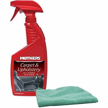 Mothers Carpet & Upholstery Cleaner Bundle with Microfiber Cloth (2 Items)