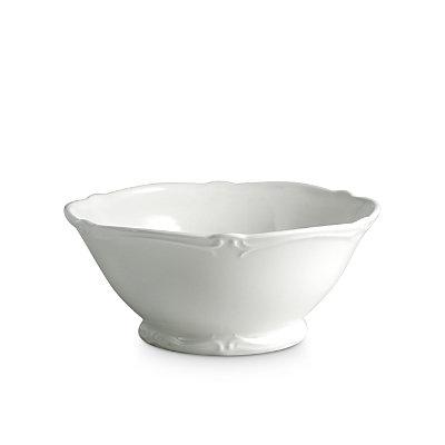 Gien France Rocaille White Vegetable Bowl
