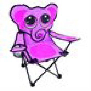 Jerry the Giraffe Folding Chair, Multiple Character [character: character-petethepenguin]