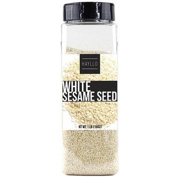 Hayllo White Sesame Seeds Hulled , 16 Ounce [White Sesame Seeds]