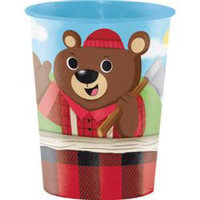 Hoffmaster Group 322318 12 by 1 Count Lum Bear Jack Keepsake 16 oz Paper Cup - Case of 12