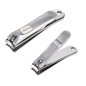 Nail Clippers, Sucica Stainless Steel Fingernail & Toenail Clippers Sharp Nail Cutter - Heavy Duty Nail Clippers for Men & Women (Set of 2)