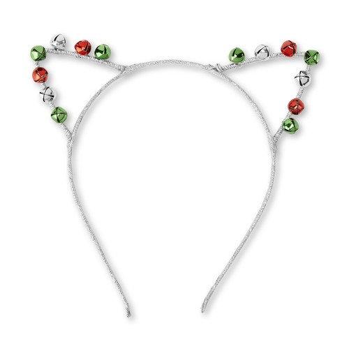 Holiday Editions Women's Silvertone Christmas Headband - Cat Ears