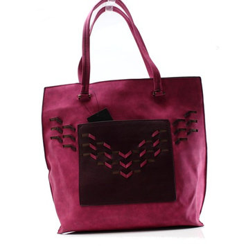 DANIELLE NICOLE NEW Red Faux Suede Top Handle Lonna Tote Bag Purse