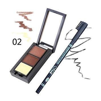 DZT1968 Women Menow Essential 3D Waterproof Long Lasting sweat-proof Party Eyebrow Powder + 1PC Eyebrow Pencil