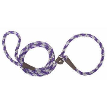 Mendota Products Mendota British Style Slip-Lead Dog Leash - Amethyst Diamond - 1/2 in x 4 ft