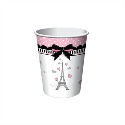 Creative Converting 375584 Party in Paris - 9 Oz. Hot & Cold Cups - Case of 96