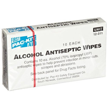 Pac-Kit by First Aid Only 12-011 Alcohol Antiseptic Wipe (Box of 10)