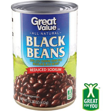 Great Value Reduced Sodium Black Beans