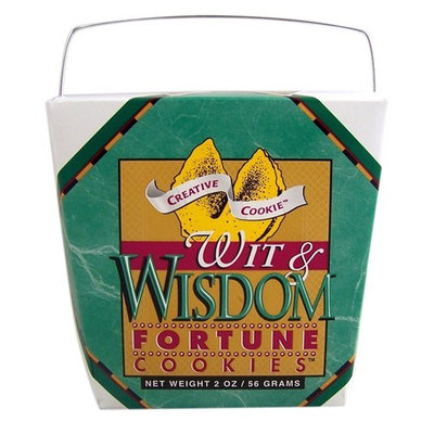 Creative Cookie Wit and Wisdom Themed Fortune Cookies, 2 oz [Wit & Wisdom]