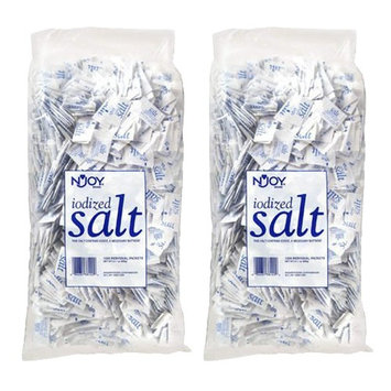 N'JOY Iodized Salt - 1,200 ct. .5 gm Packets (Pack of 2)