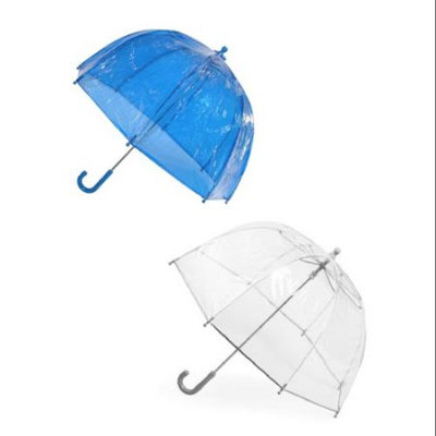 totes ISOTONER Kids Clear Bubble Umbrella (Pack of 2), Blue/Clear