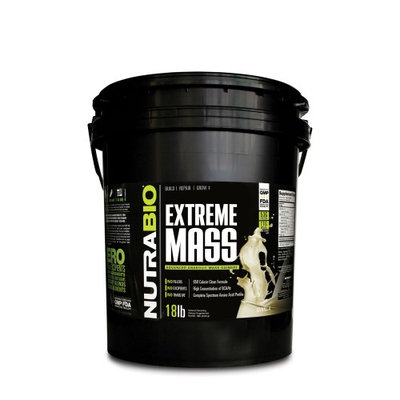 Nutra Bio NutraBio Extreme Mass Powder, Vanilla, 18 Lb
