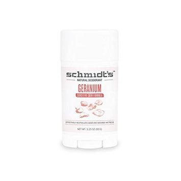 Schmidt's Deodorant Schmidt's Natural Deodorant - Geranium Sensitive Skin Stick (3.25 oz.; Odor Protection & Wetness Relief; Aluminum-Free)