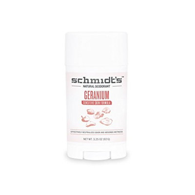 Schmidt's Deodorant Schmidt's Natural Deodorant - Geranium Sensitive Skin Stick (3.25 oz.; Odor Protection & Wetness Relief; Aluminum-Free)