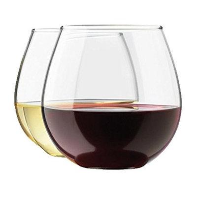 Royal Stemless Wine Glass Set, 4-Pack, 15 Ounce Wine Tumbler Set, Glass []