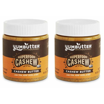 Superfood Cashew Butter by Yumbutter – Naturally Delicious, Gluten Free, Vegan, Non-GMO, 10oz Jar – Pack of 2 [Superfood Cashew Butter]