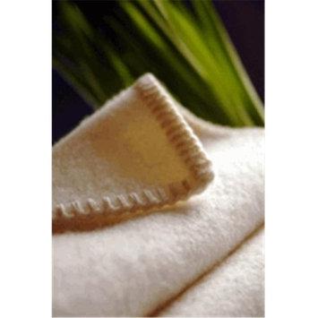 Organic Caboose 2102PW Fine Organic Wool Hemmed Toddler Blanket 28apos;apos; X 35apos;apos;