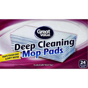 Great Value Deep Cleaning Mop Pads, 24 Count