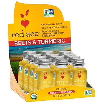 Red Ace 67407CD Organic Beet & Turmeric Shot Piece of 12 6 per Case