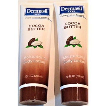 Dermasil Cocoa Butter 10 fl oz Moisturizing Body Lotion (2 Pack)
