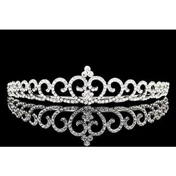 Bridal Heart Shape Rhinestones Crystal Prom Party Wedding Tiara Crown T979