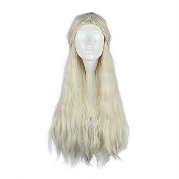 Kadiya Beige Princess Queen Halloween Christmas Cosplay Costume Wigs Anime Wig for Girl