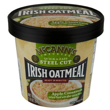 McCann's Instant Oatmeal Cup, Apple Cinnamon, 1.41 OZ (Pack of 4)