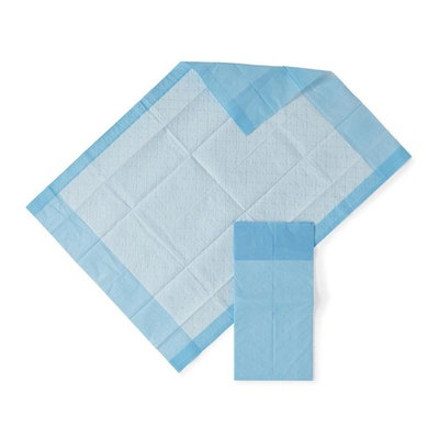 HEALTH 1st Disposable Underpad, 17 inches X 24 inches, Blue (100)