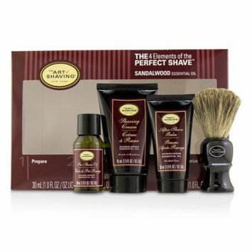 The 4 Elements of the Perfect Shave Mid-Size Kit - Sandalwood-4pcs