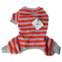 Lookin' Good Striped Dog Pajamas - Red Small (Fits 10