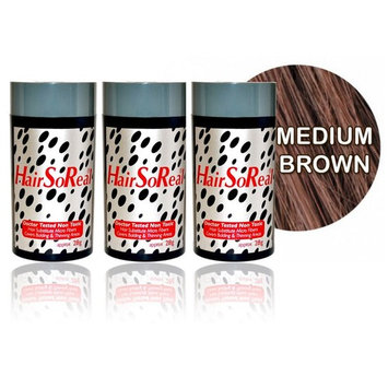 Hair So Real, HSR Hair Building Fibers, Hair Loss Concealer Kit (3 of Hairsoreal 28g bottle, Fiberhold Spray)