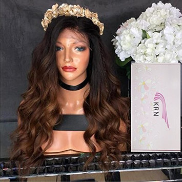 Human Hair Glueless Full Lace Front Wigs wavy 1B 30 Blonde Ombre Lace Front Wigs for Black Women Baby Hair (16 Inch, 1B/30 Lace Front Wig)