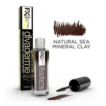 Divaderme De-Finer Gel FX II - 100% Natural Eyebrow & eyelash Definer Gel Conditioning Treatment - Made in USA