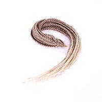 Furice 12/18/24/30inch 3X Box Braids Soft Synthetic Twist Box Crochet Braids Hair Extension African Hairstyles Crochet Braids Kanekalon Fiber (30inch 27/613)