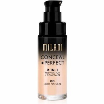 2 Pack - Milani Conceal + Perfect 2-In-1 Foundation + Concealer, Light Natural 1 oz