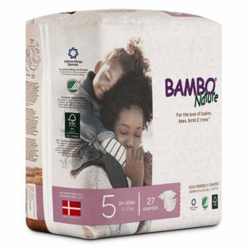 Bambo Nature Premium Baby Diapers, Size 5 (24-55 lbs), 324 Count (2 Cases of 162)