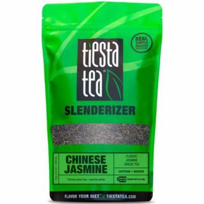 Tiesta Tea Slenderizer, Chinese Jasmine, Loose Leaf Green Tea Blend, Medium Caffeine, 1 Lb Bulk Bag