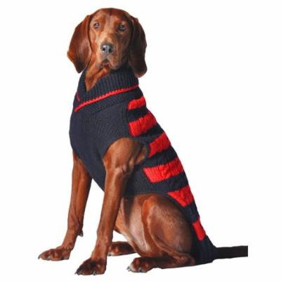Chilly Dog Red And Navy Rugby Sweater, Large
