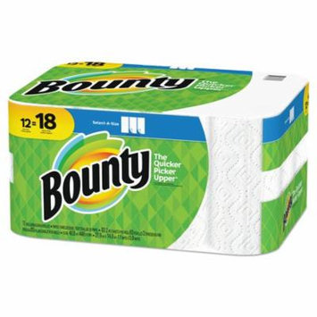 Bounty Select-a-Size Paper Towels, 2-Ply, White, 5.9 x 11, 83 Sheets/Roll, 12 Rolls/CT -PGC74795