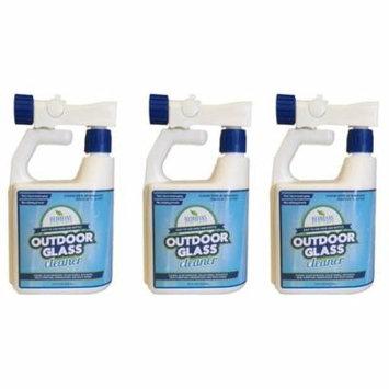 Wash Safe Industries Outdoor Window GLASS Cleaner, Hose End Bottle, 32 oz. Spray Jug, (Pack of 3)