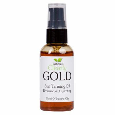 Isabella's Clearly GOLD - Bronzing & Hydrating Sun Tanning Oil (2 Oz)