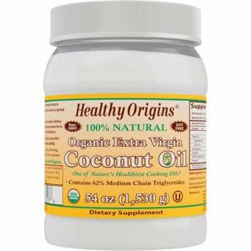 Healthy Origins, Organic Extra Virgin Coconut Oil, 54 oz (pack of 4)
