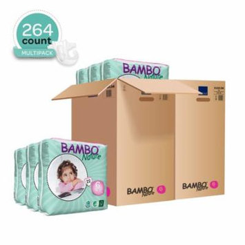 Bambo Nature Baby Diapers Classic, Size 6 (35-66 lbs), 264 Count (2 Cases of 132)