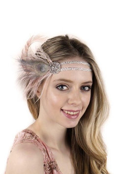 Zucker Feather Products Ostrich/ Peacock Feather Headband with Silver Cord